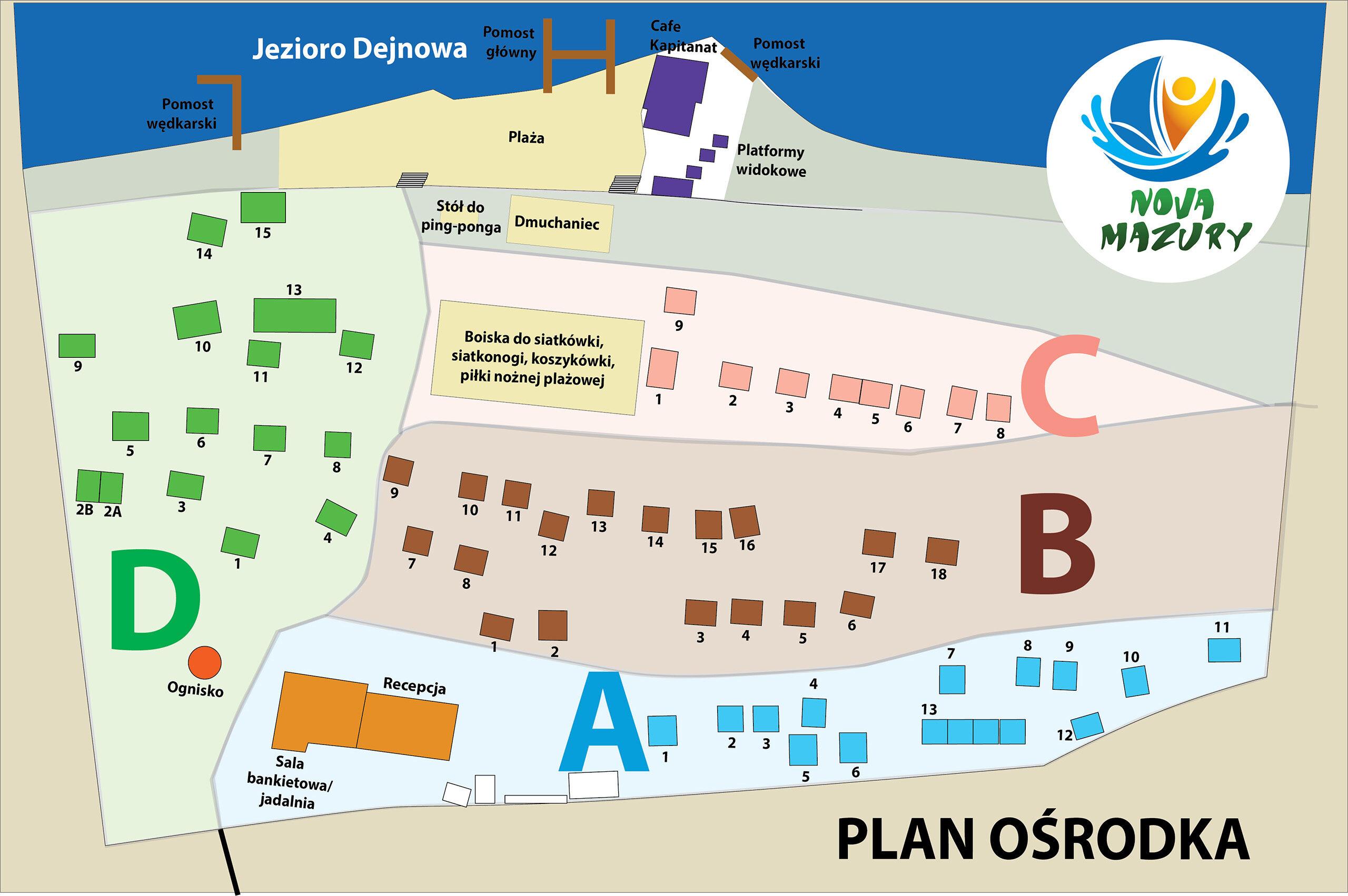 Plan ośrodka Nova Mazury